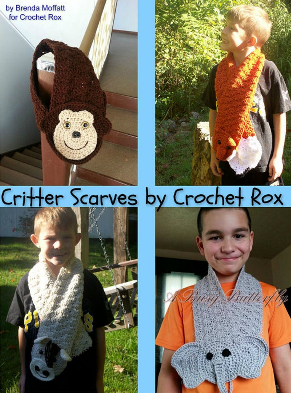 Crochet Animal Scarves Patterns You\'ll Love Video Tutorial | Tejido ...