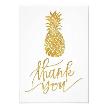 #wedding #thankyoucards - #tropical golden pineapple thank you card