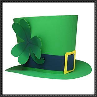 canon papercraft st patrick s day st patrick s hat free