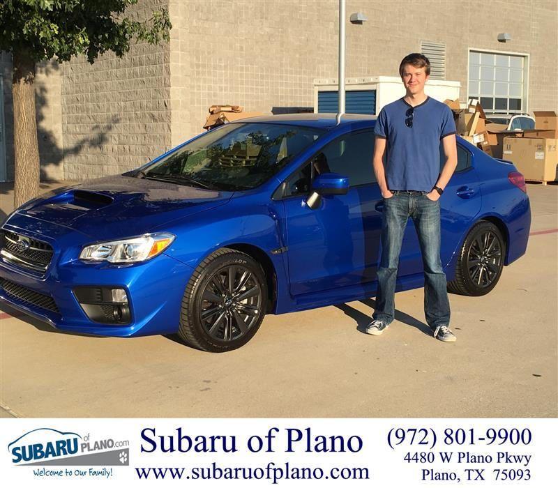 Congratulations Randy On Your Subaru Wrx From Aaron Dunson At Subaru Of Plano Subaru Wrx Bmw