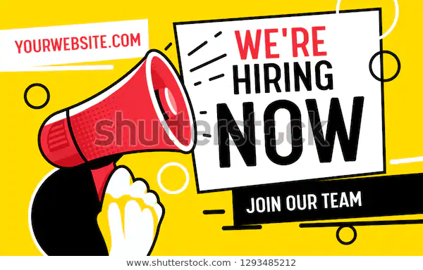 Now Hiring Vacancy Concept Poster Template Stock Vector Royalty Free 1293485212 Poster Template Poster Template Design Free Business Card Templates