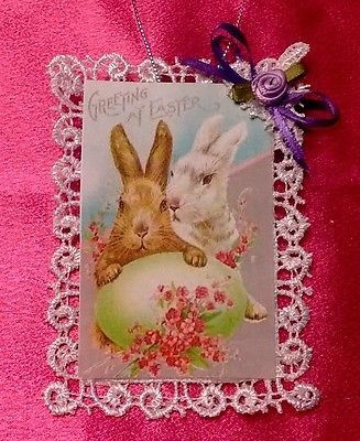Vintage style victorian easter card tree ornament an easter vintage style victorian easter card tree ornament an easter greeting negle Choice Image