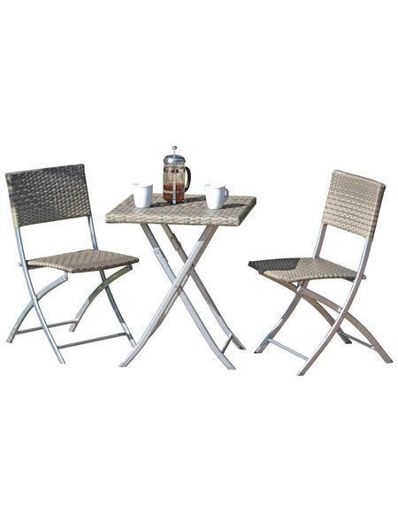 Gartenmöbelset »NORFOLK«, 3-tlg., 2 Stühle, Tisch, klappbar ...