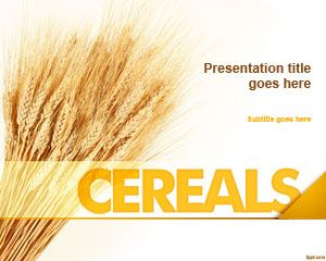 Cereals powerpoint template food backgrounds for powerpoint cereals powerpoint template toneelgroepblik Gallery