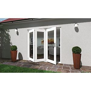Wickes Lyndon Finished Folding Patio Door White 6ft Wide