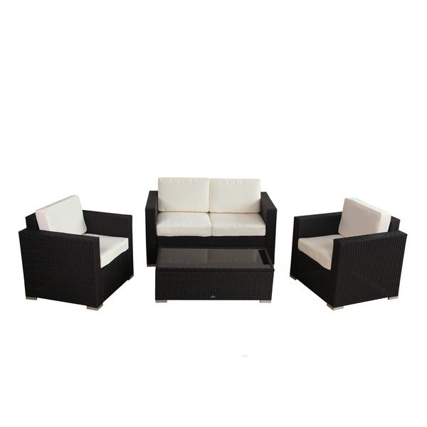Broyerk 4 Piece Outdoor Rattan Patio Furniture Set Ping S On Sofas Chairs Sectionals