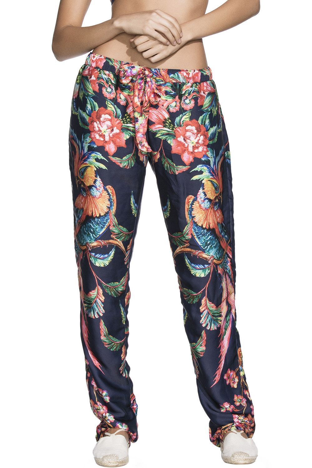 Bendito Cacatua Pants in Windy Birds