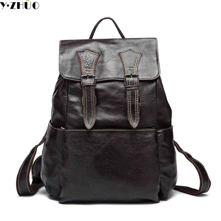 Leather Straps Black /& White Because F U Thats Why Vintage Rucksack Backpack