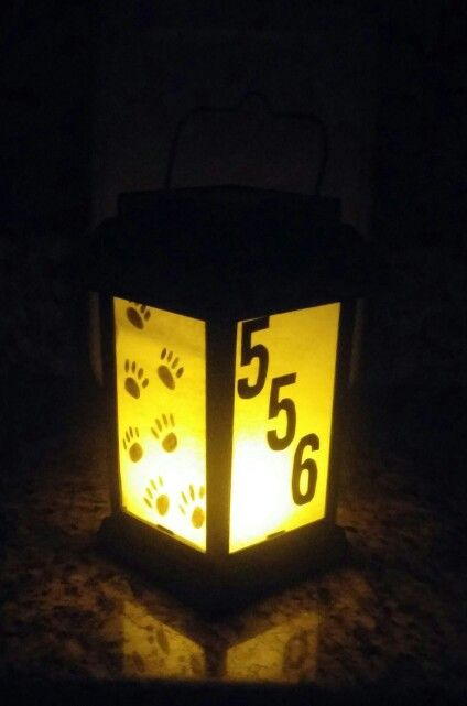 Light Up Diy Solar Lantern House Number Diy Solar Lanterns