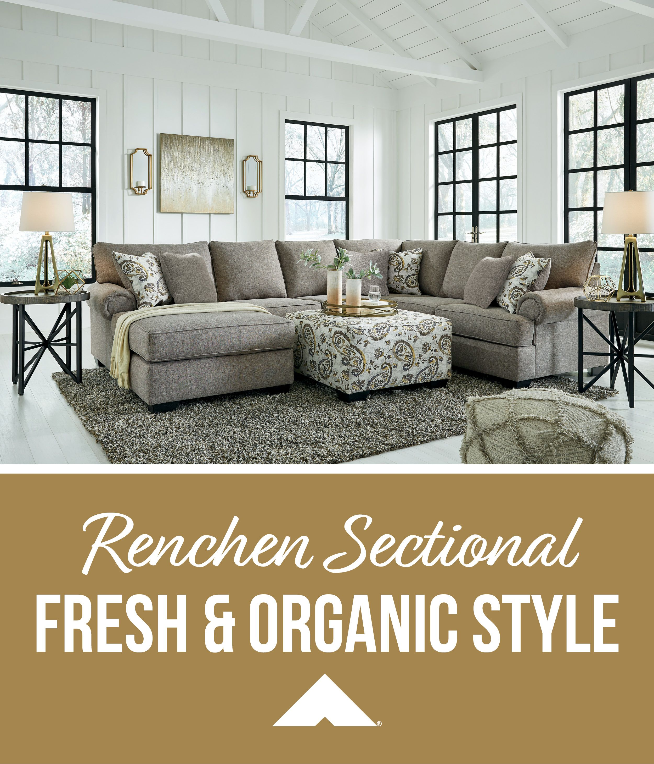 Renchen Pewter Sectional By Ashley Furniture Ashleyfurniture