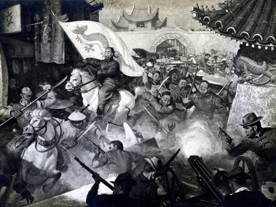 Boxer Rebellion, 1900. Marines defend Peking Legations