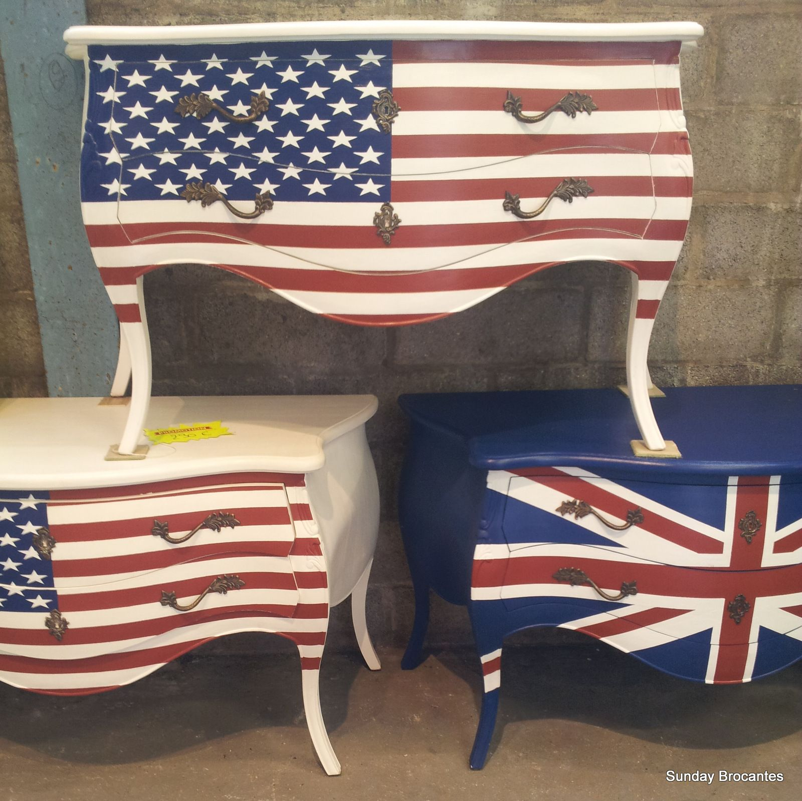 American Flag Chair Affordable Upholstered Chairs Sunday Brocantes Painted Furniture