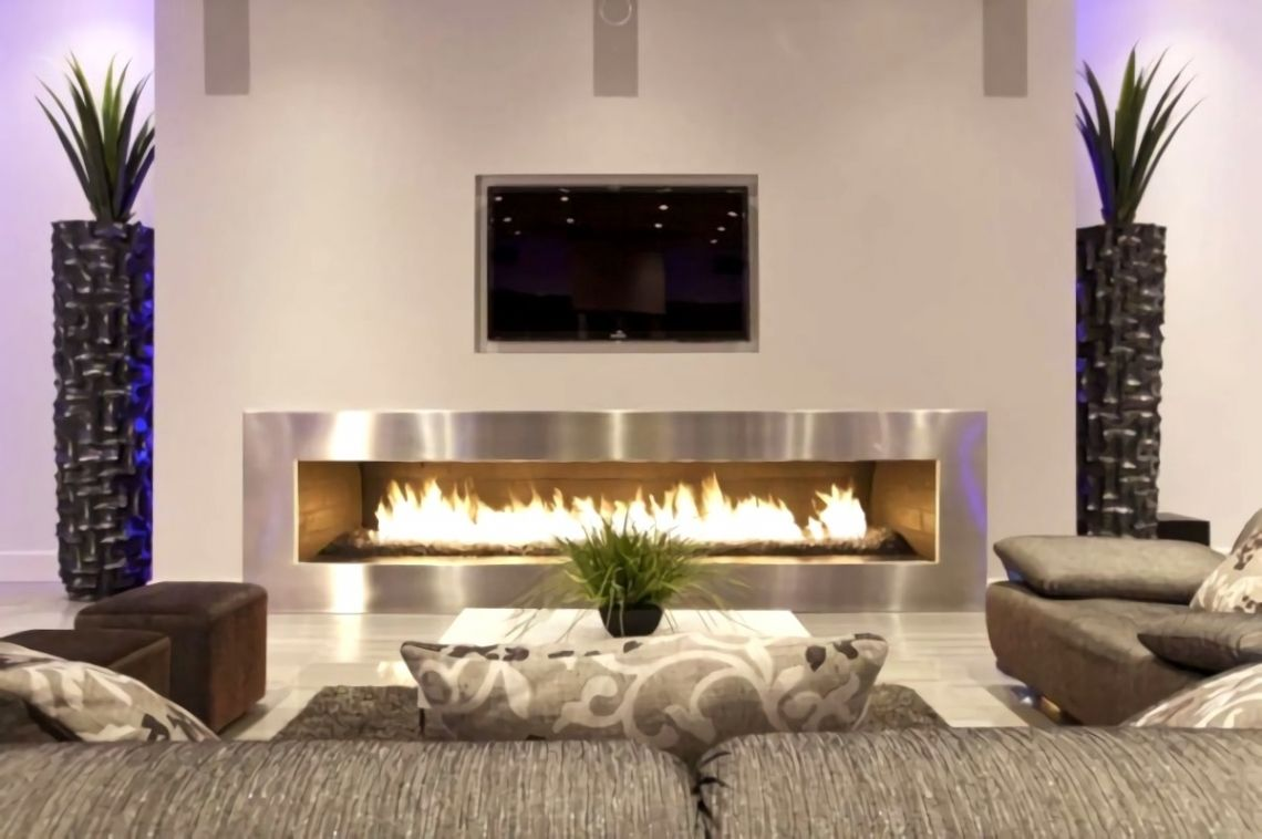 Schön Wohnzimmer Ideen Mit Kamin  Contemporary fireplace, Living