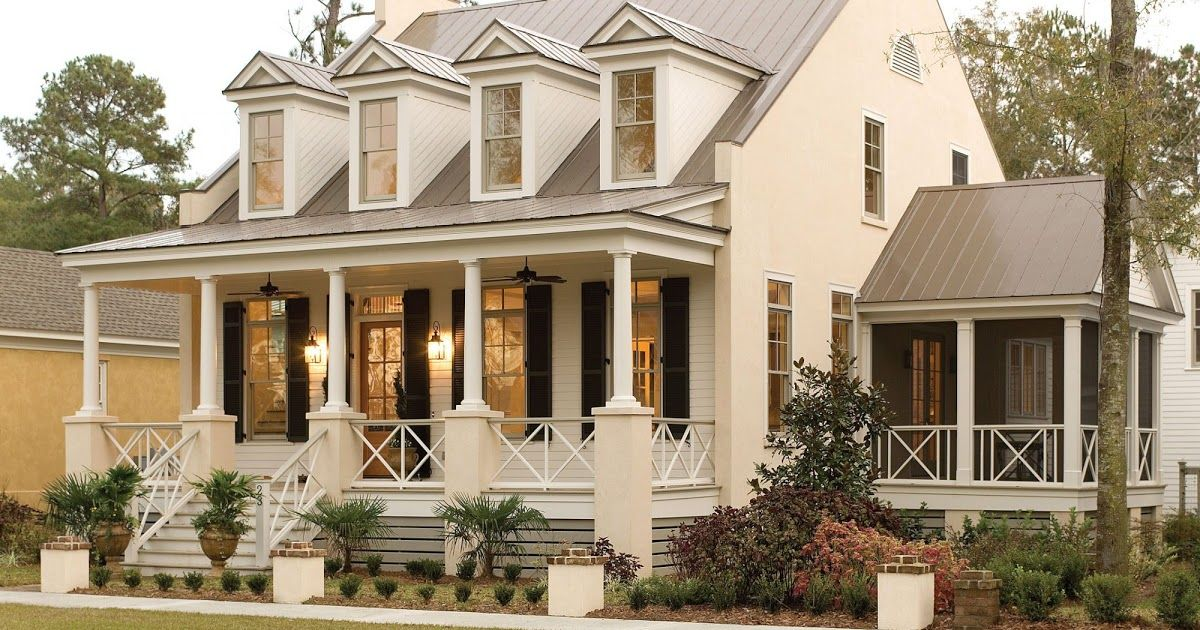 Pretty House Plans With Porches Acadian Style House Plans With Wrap Around Porch Luxury In 2020 Farmhouse Style House Southern Living House Plans Southern House Plans