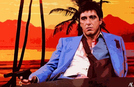 Scarface Tony Montana Al Pacino Illustration d0678d35f9