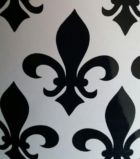 25 1 6 X 2 Inch Fleur De Lys Fleur De Lis Waterproof Vinyl Stickers Wall Decals Perfect For Tiles Glass Wall Decals Wall Decals And Stickers Wall Stickers