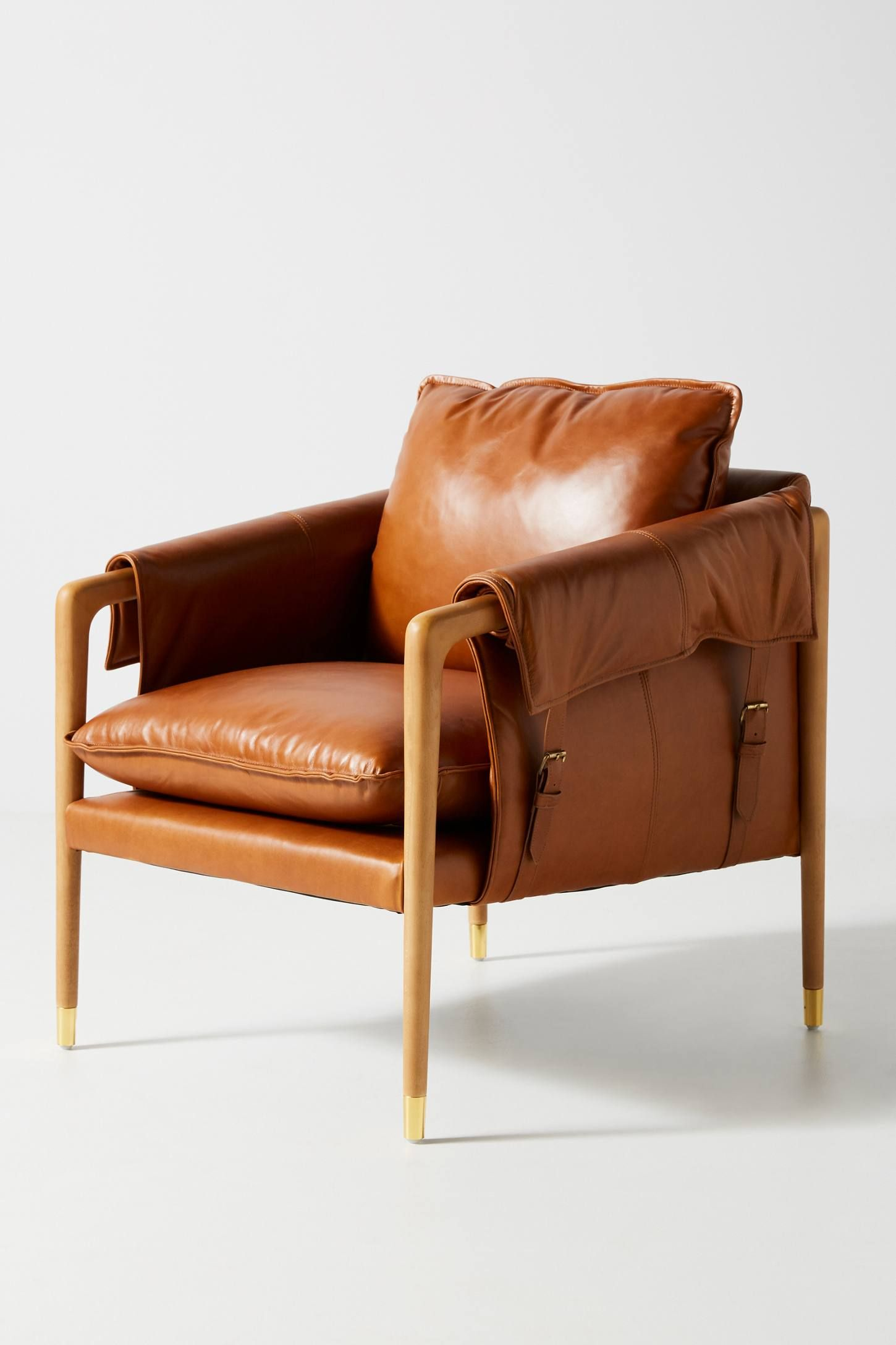 Stupendous Havana Leather Chair By Anthropologie In Brown Size All In Machost Co Dining Chair Design Ideas Machostcouk