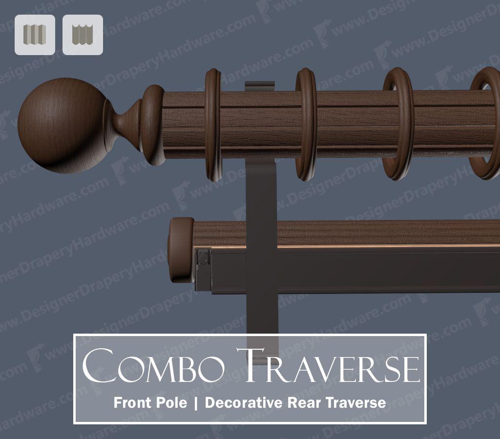 Back tab curtains on traverse rod - Http Www Designerdraperyhardware Com Combination Decorative Traverse Curtain Rodsdraperycurtainsthe Frontinteriordesign