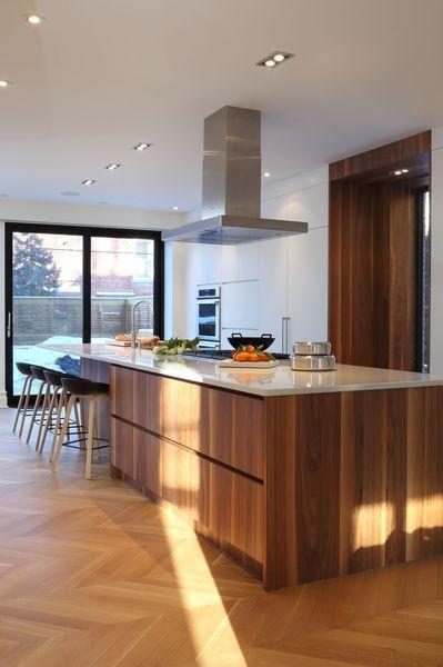 Cuisine ilot central, cuisine ouverte sur le salon, cuisine design
