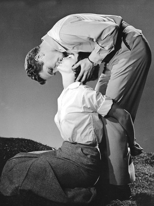 Unforgettable Movies...Paul Newman and Jean Simmons, Until They Sail, directed by Robert Wise, 1957.