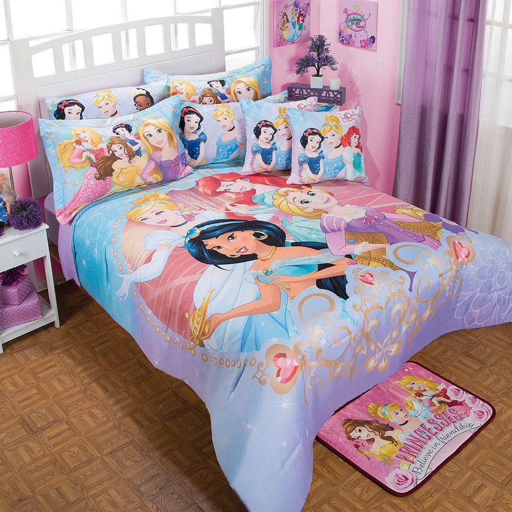 Posh Bedrooms For Girls Disney Princess Bedroom Accessories Bedroom Sets At Value City Bedroom Sets With Platform Beds: Coordinado De Edredón Princesas Magia #Recamara #Edredon