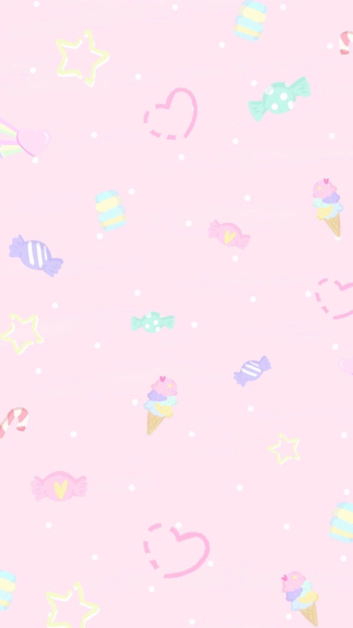 Kawaii Pastel Pink Background : kawaii, pastel, background, Pastel, Kawaii, Backgrounds, Wallpaper, Ponsel,, Ilustrasi,, Ilustrasi, Poster