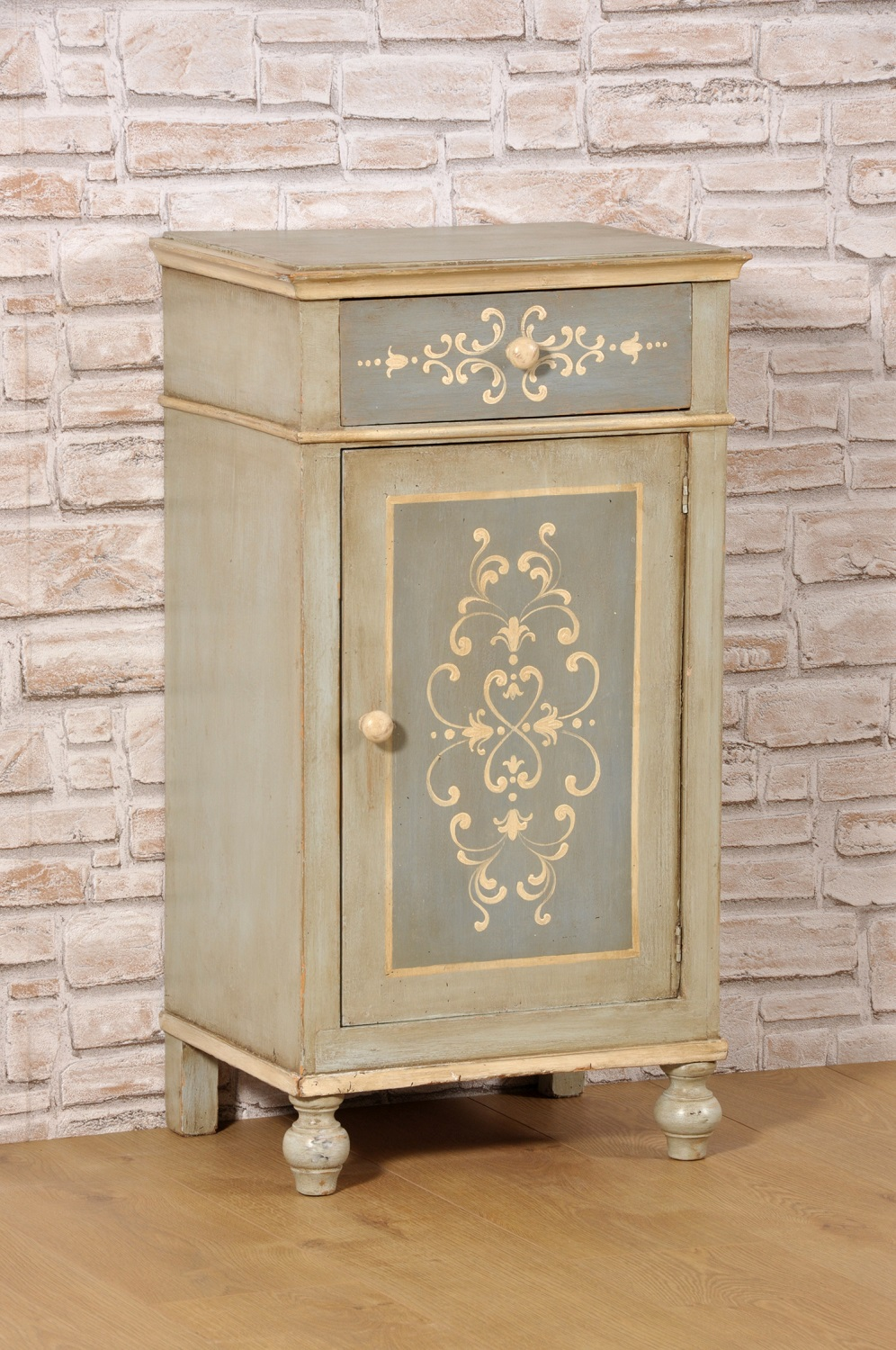 Bedside Cabinet Hand Painted Custom Made Tyrolean Baroque Style 18th Century With Turned Legs Mobili Vangelista Painting Wood Furniture Painted Cupboards Furniture Makeover