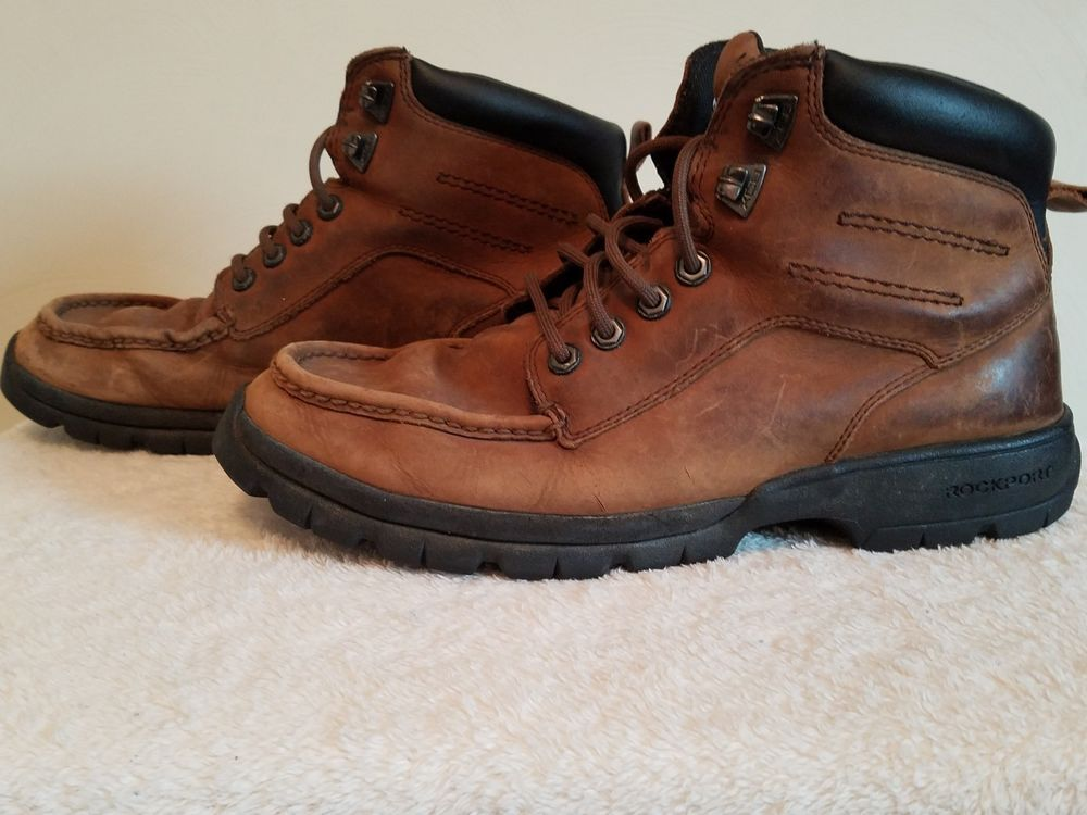 Men's Rockport XCS Vibram Hydro-Shield Waterproof Work / Hiking Boots - Sz  9.5W