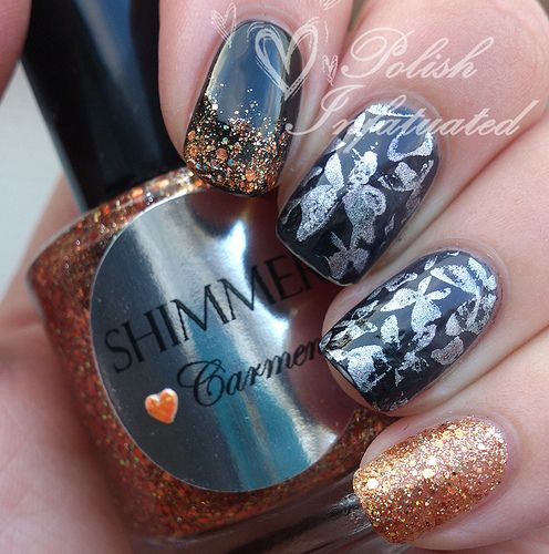 Black and grey gradient with a splash of colour ♥ -Polish Infatuated