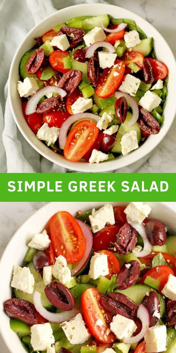 Easy Greek Salad #simplehealthydinner