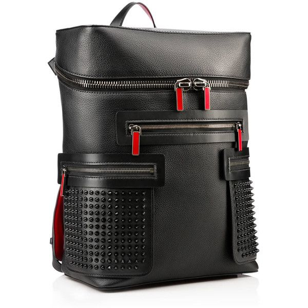 Christian Louboutin Apoloubi Backpack (€1.910) ❤ liked on Polyvore featuring bags, backpacks, leather backpack, genuine leather backpack, real leather backpack, laptop rucksack and leather bags