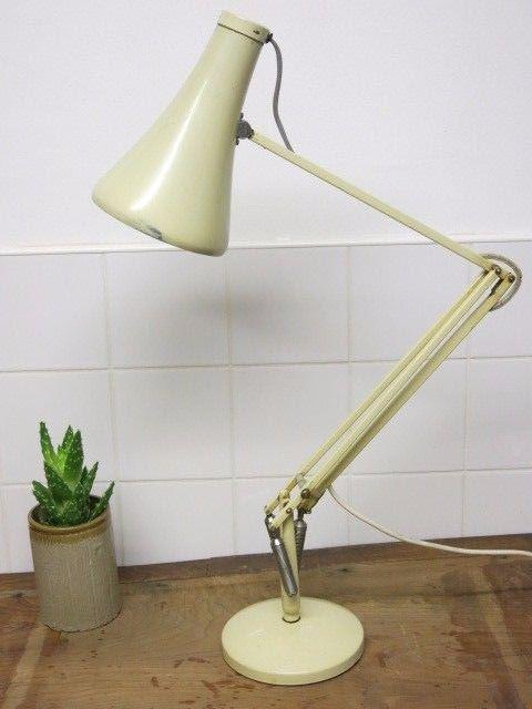 Vintage Herbert Terry Anglepoise Model 90 Cream 20th Century Desk Lamp Ebay