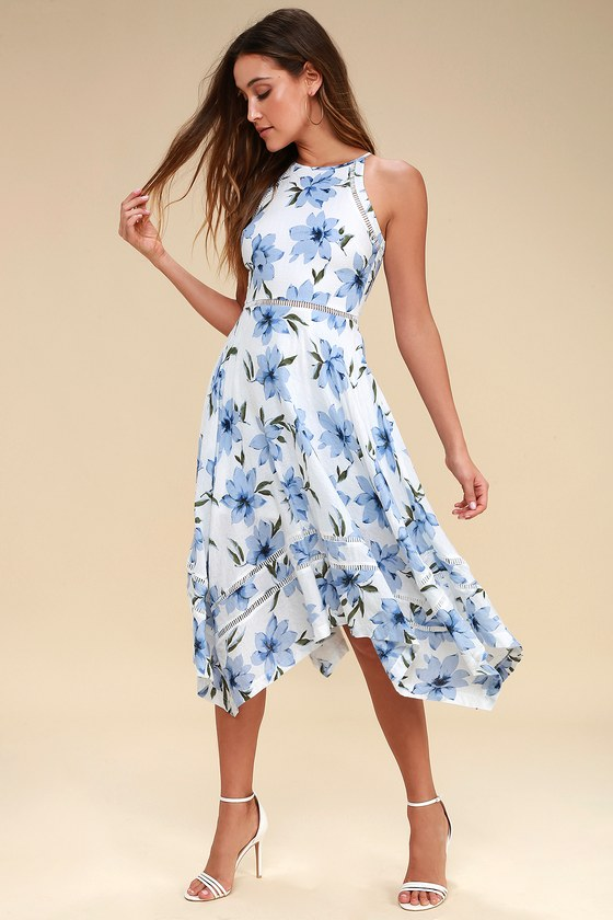 47+ Blue floral dress info