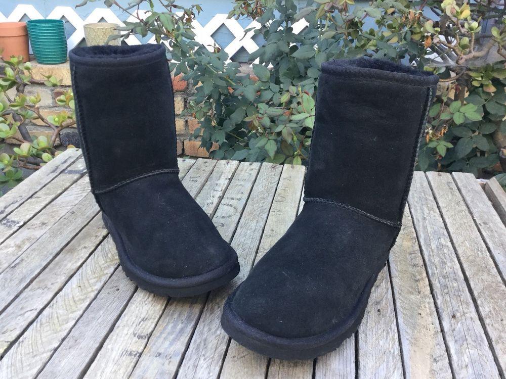 8a08bca61ff $155 UGG Australia Classic Short Womens Boot Black Size 6 #fashion ...