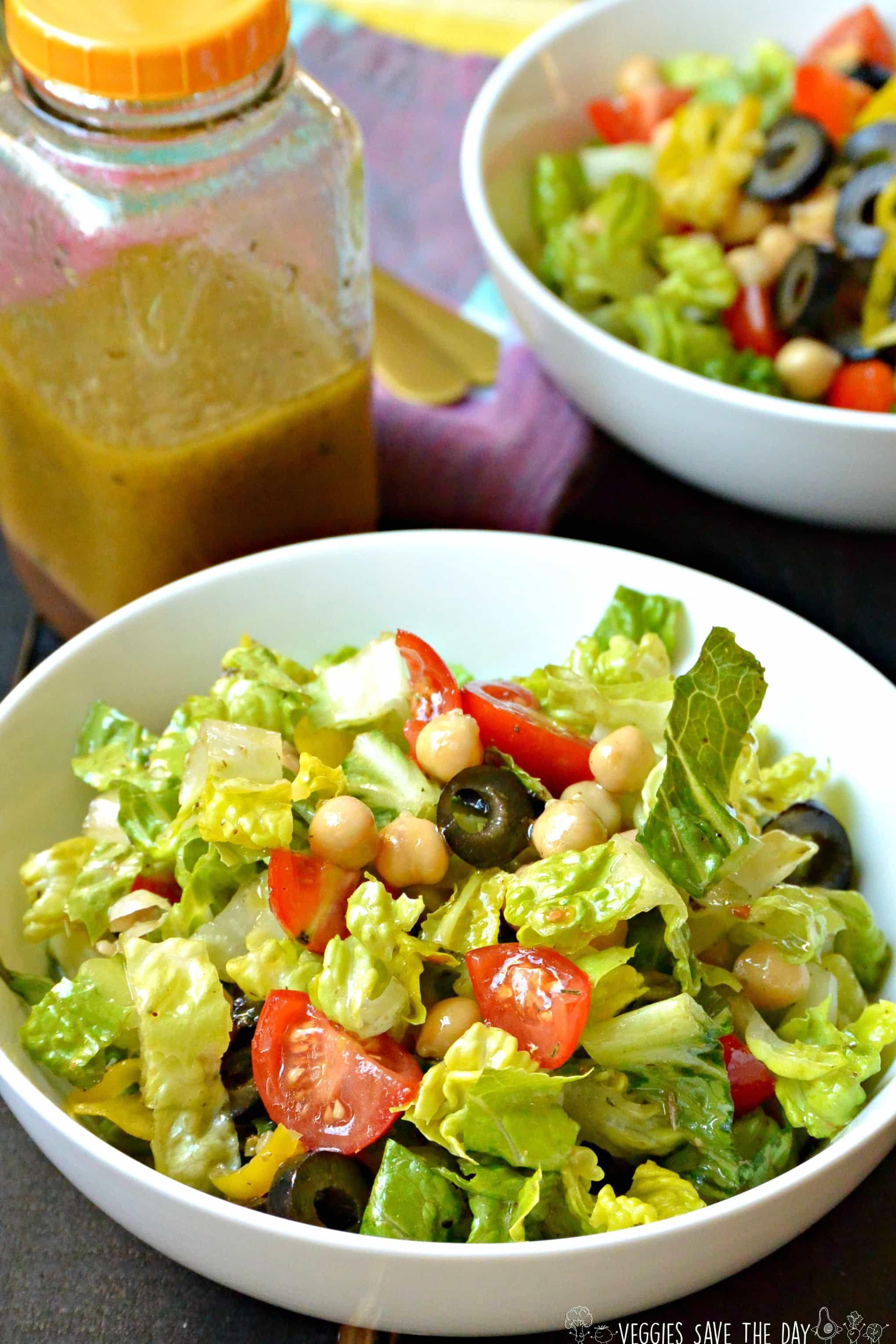 Italian Chopped Salad Vegan