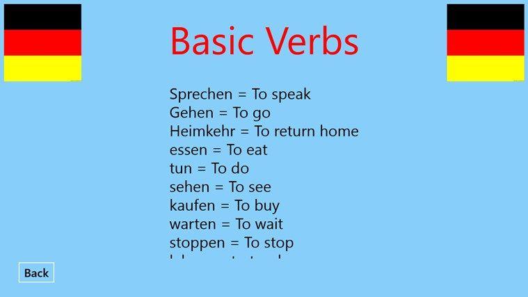 German Words | Basic German words app for Windows in the Windows ...