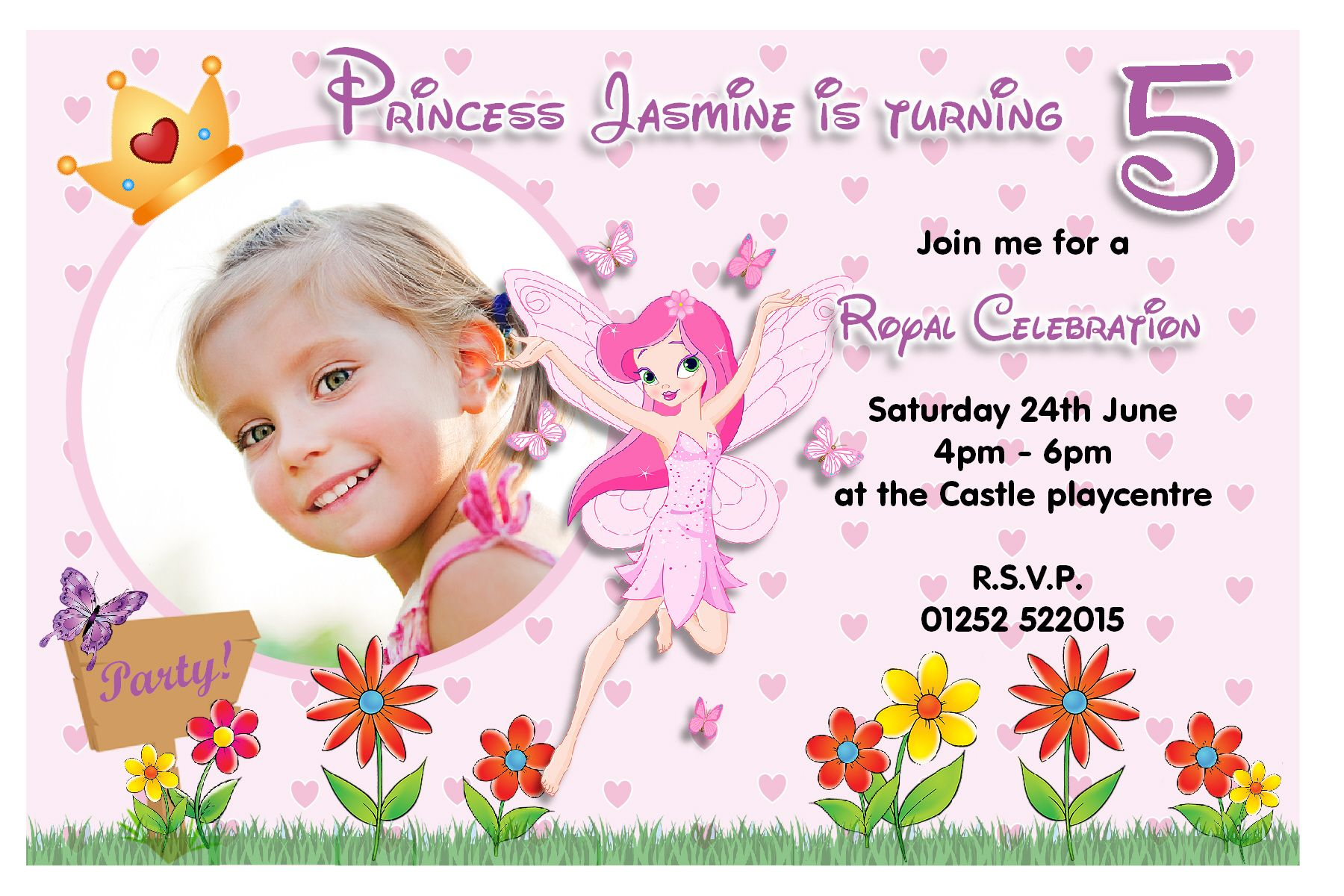 Details about 10 personalised girls princess fairy