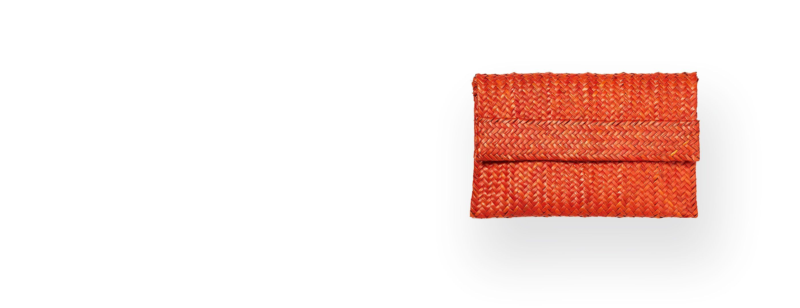 Orange Raffia Clutch Gallery