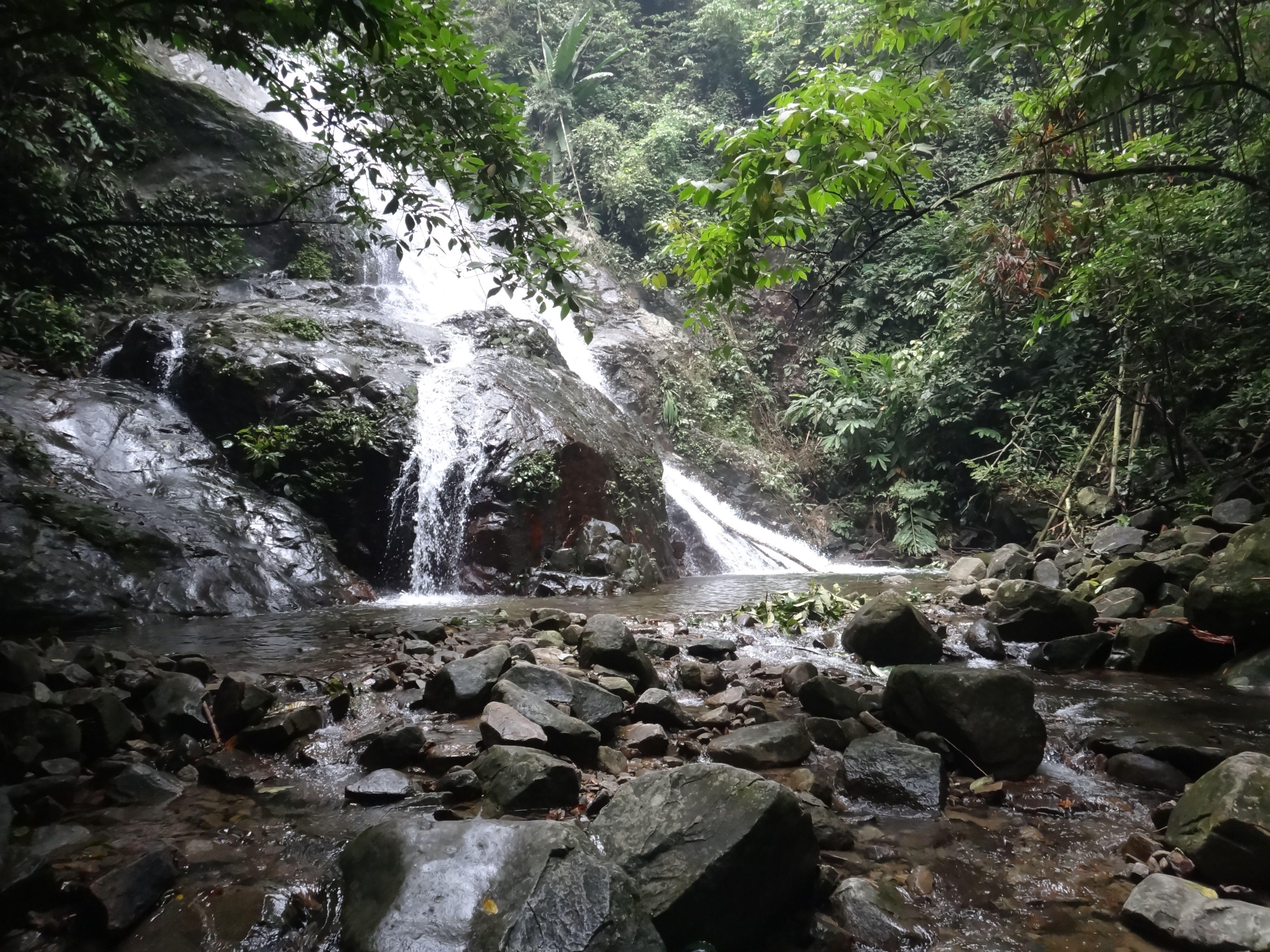 Waterfall at Mount Nuang via Janda Baik route, Malaysia