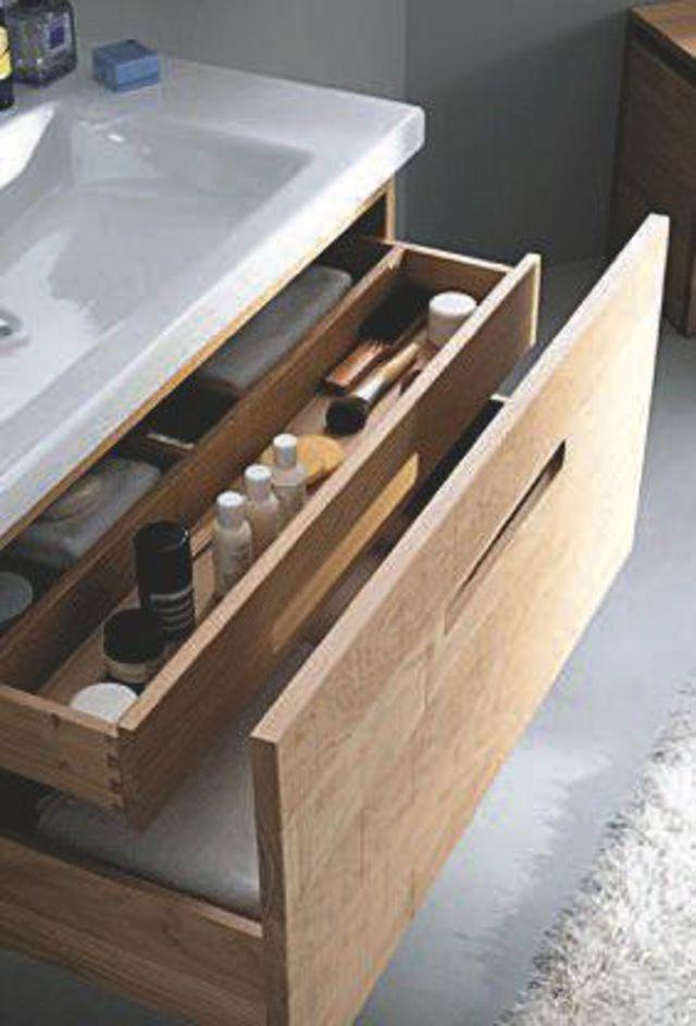 Salle de bains  3 idées de rangements Ware FC, Laundry and Modern - meuble salle de bain en chene massif