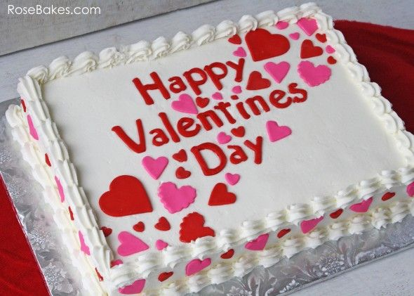 Happy Valentine S Day A Simple Valentines Sheet Cake
