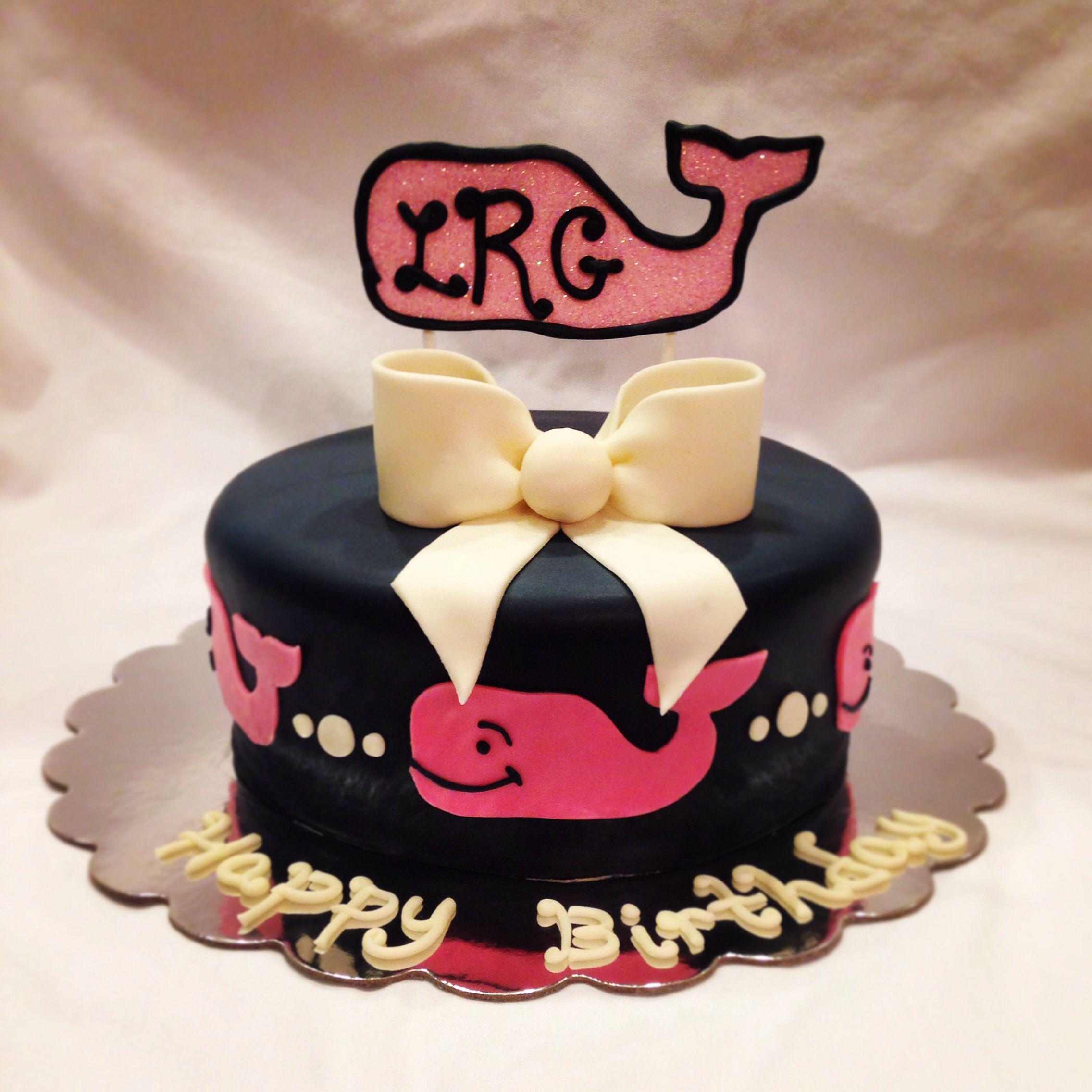 Vineyard Vines Fondant Birthday Cake!
