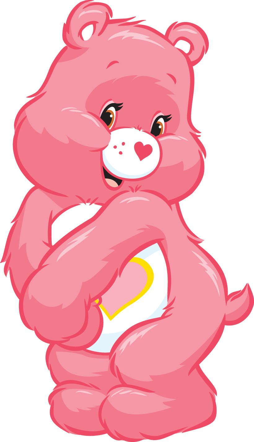 Image result for pictures of a pink care bear