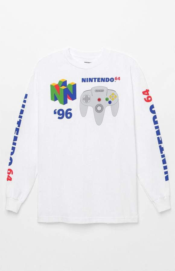 8f82d6d0 PacSun null Nintendo 64 Long Sleeve T-Shirt | Trends in 2019 | T ...