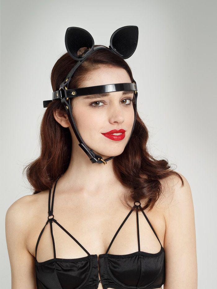 FLEET Ilya Black Patent Leather Cat Mask at Coco de Mer ...