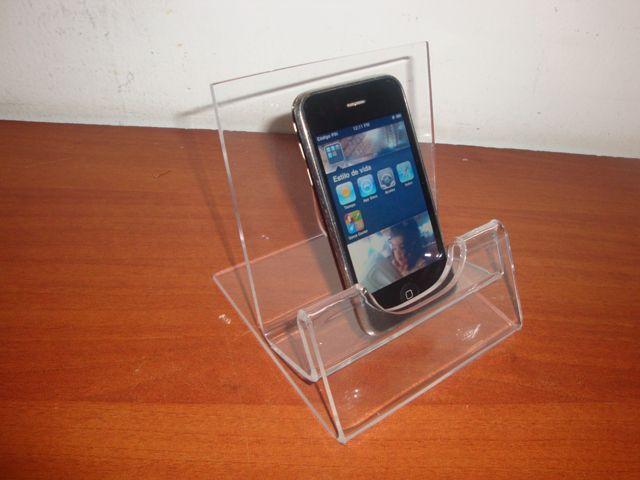 Exhibidor en acrílico cristal para smartphone