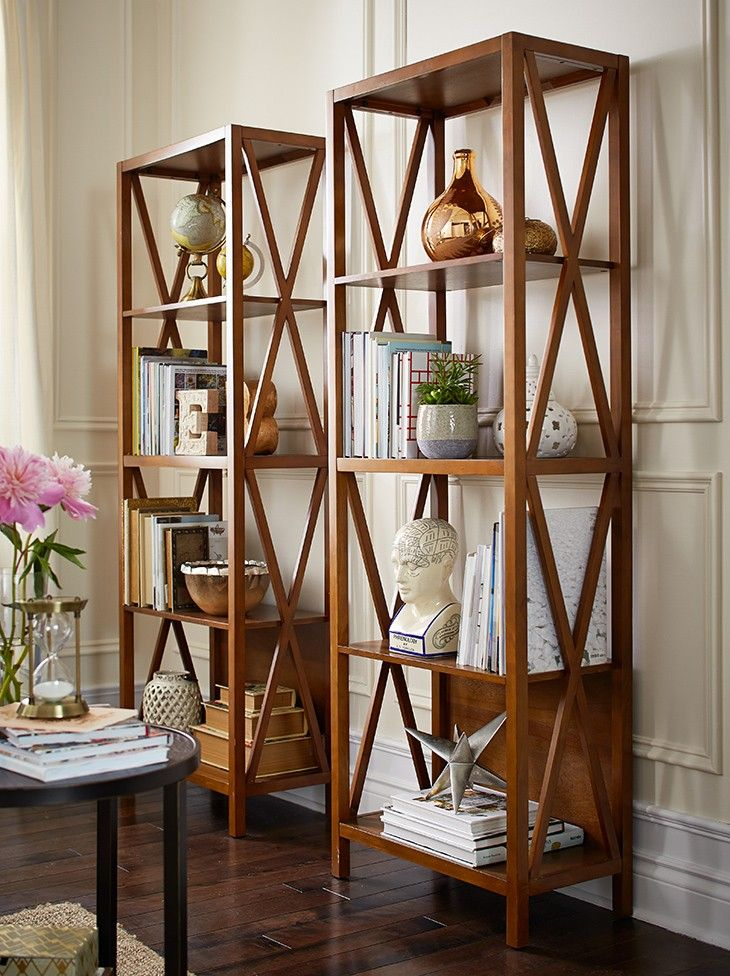 Create a rustic library in your home using the canvas home and dining collection