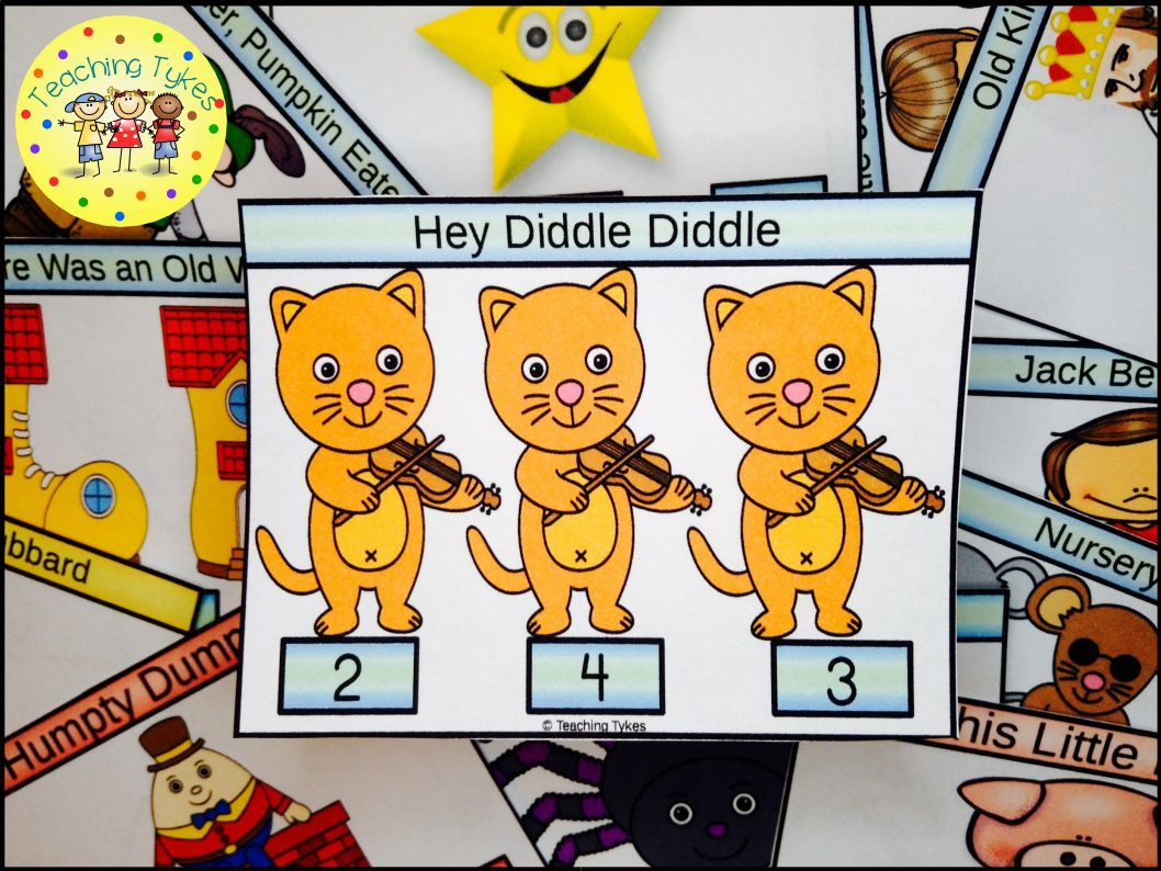 Hey Diddle Diddle Task Cards