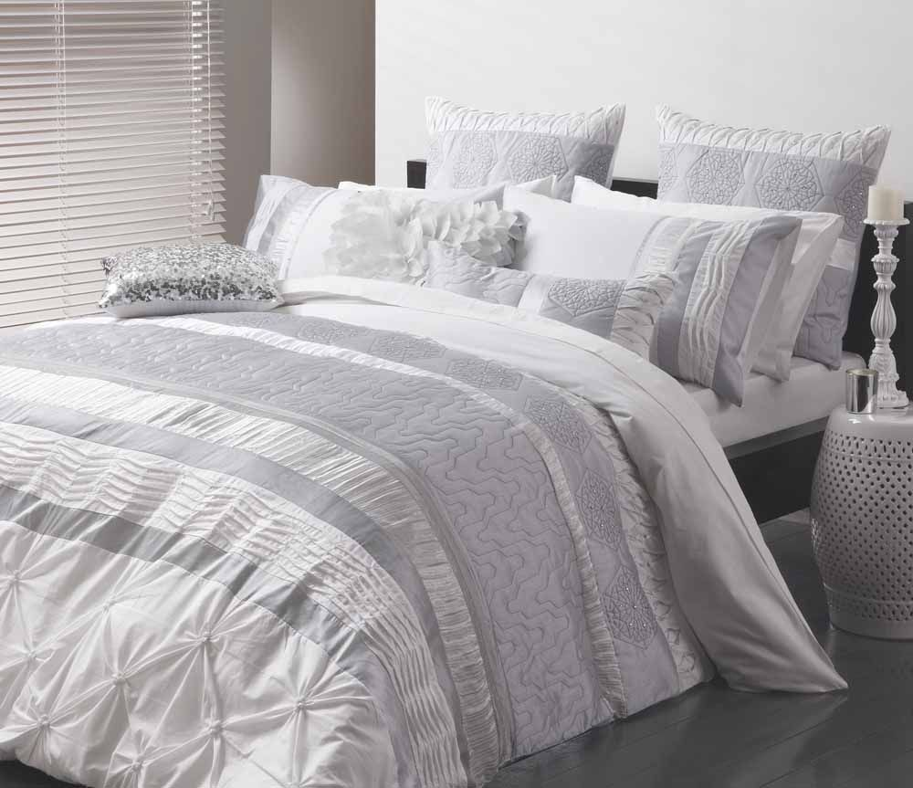 Sara Silver Quilt Cover Set By Logan Mason Ultima Quilt Cover
