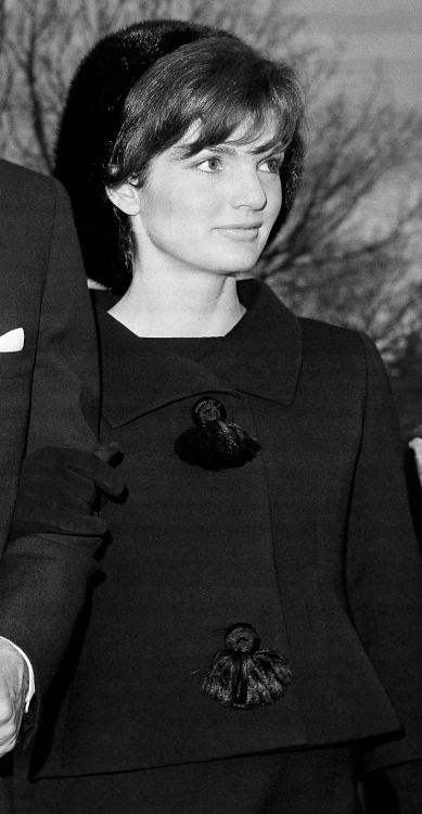 thekennedyclan:  November 10, 1962 - Jackie accompanies her husband to ex-First lady Eleanor Roosevelt's funeral
